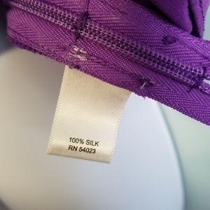 Banana Republic Tops - Banana Republic purple 100% silk top size 8 -Y3